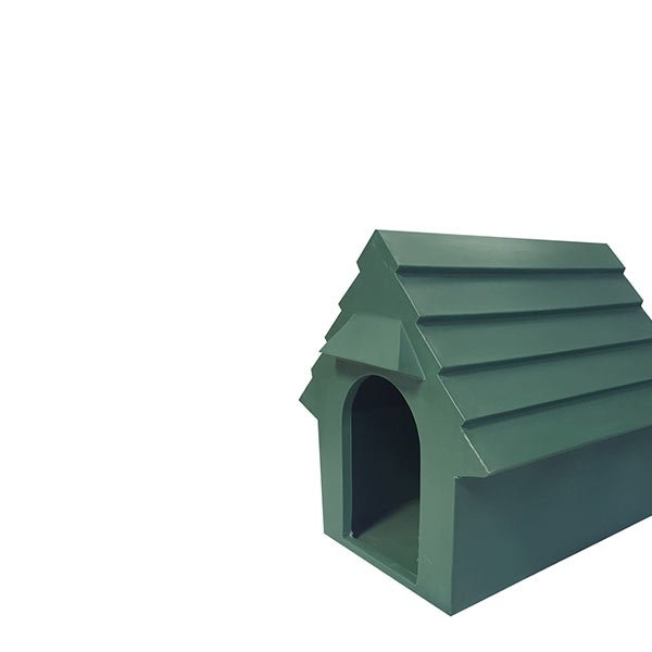 Pastic dog houses and water troughs
